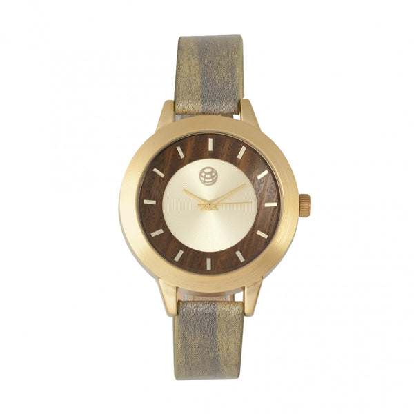 Earth Wood Autumn Watch - Gold/Olive