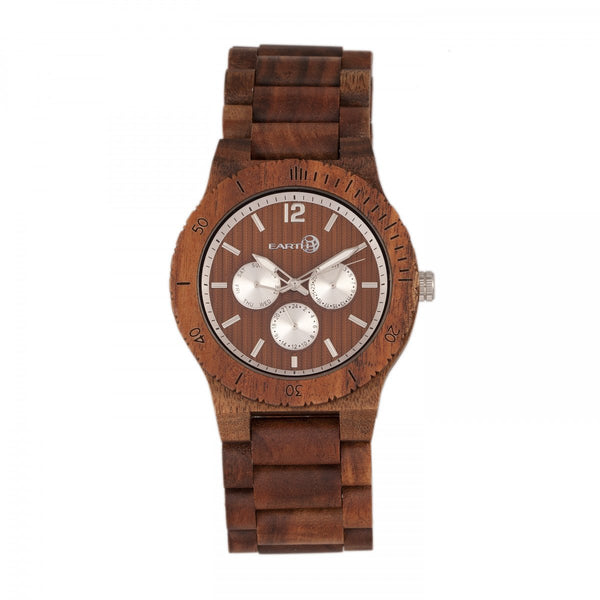 Earth Wood Bonsai Bracelet Watch w/Day/Date - Olive