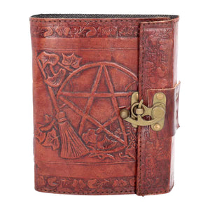 Pentagram Leather Emboss Journal + Lock (SIW)