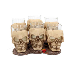 Six Shooter Skull Glasses