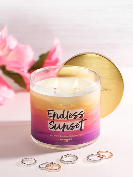 Endless Sunset Candle - Stackable Ring Band Collection