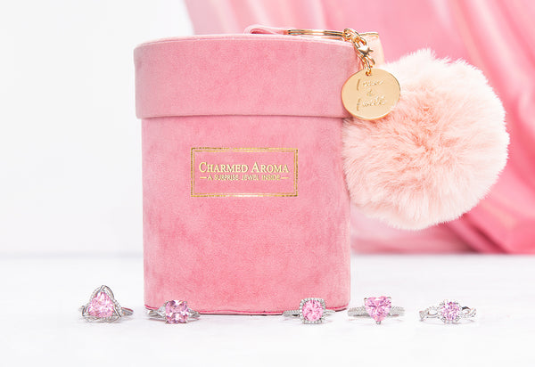 Velvet Pom-Pom Candle - Pink Ring Collection
