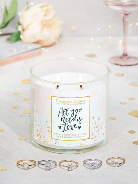 All You Need Is Love Candle - Dainty Ring Collection