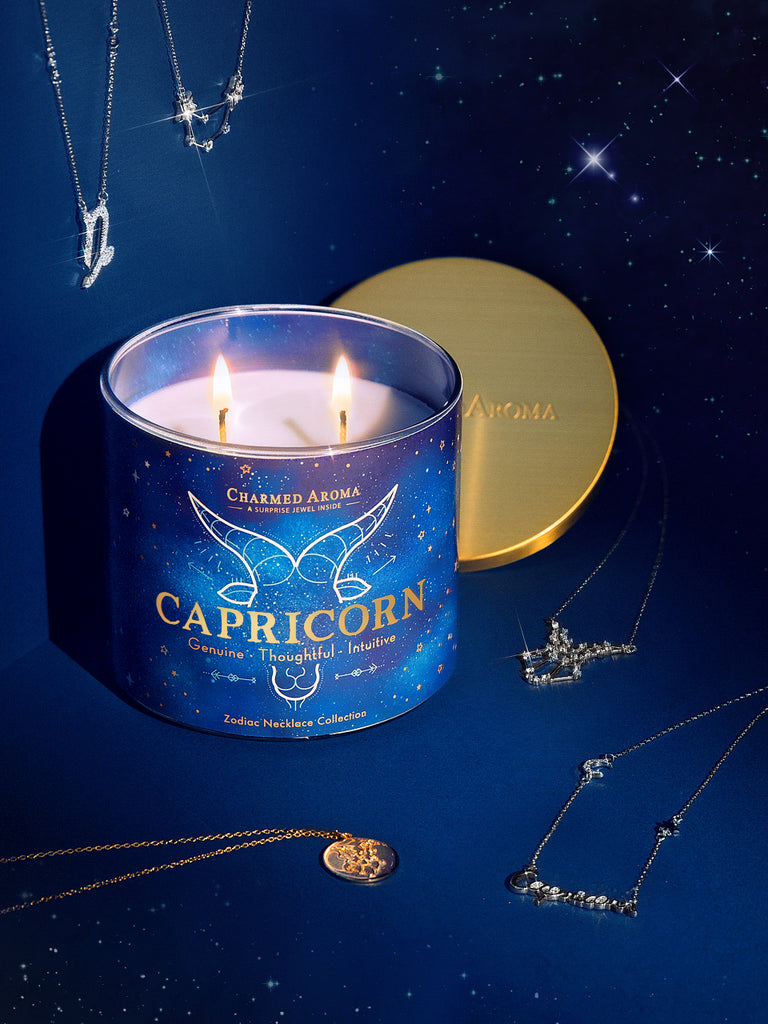 Capricorn Candle - Zodiac Necklace Collection