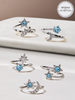 Aquamarine Candle - Aquamarine Jewelry Collection Made with Crystals From Swarovski®