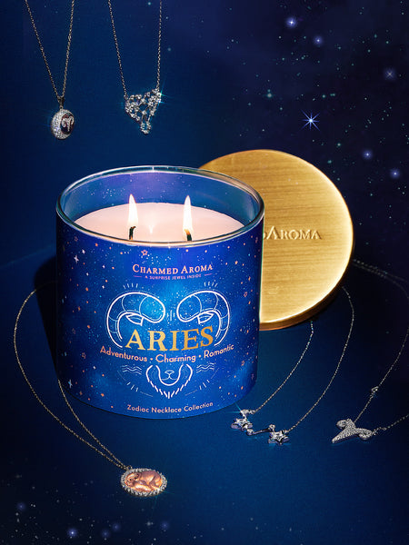 Aries Candle - Zodiac Necklace Collection