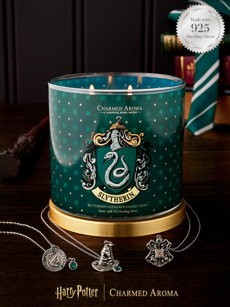 Harry Potter Slytherin Pride Candle - 925 Sterling Silver Slytherin Necklace Collection