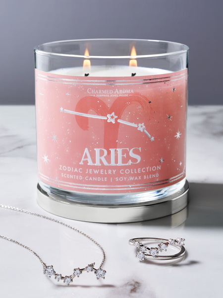 Aries Zodiac Candle - Aries Jewelry Collection