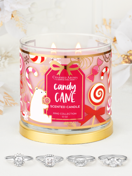 Candy Cane Candle - Ring Collection