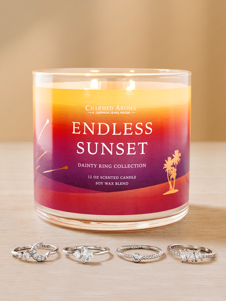Endless Sunset Candle - Dainty Ring Collection