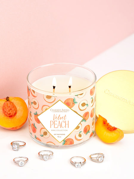 Velvet Peach Candle - Classic Ring Collection