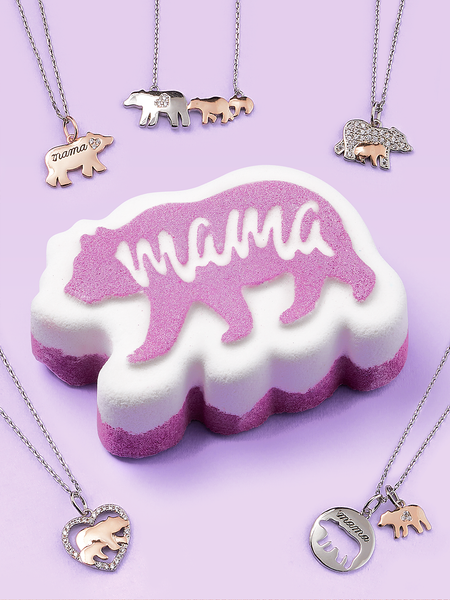 Mama Bear Bath Bomb - Mama Bear Necklace Collection
