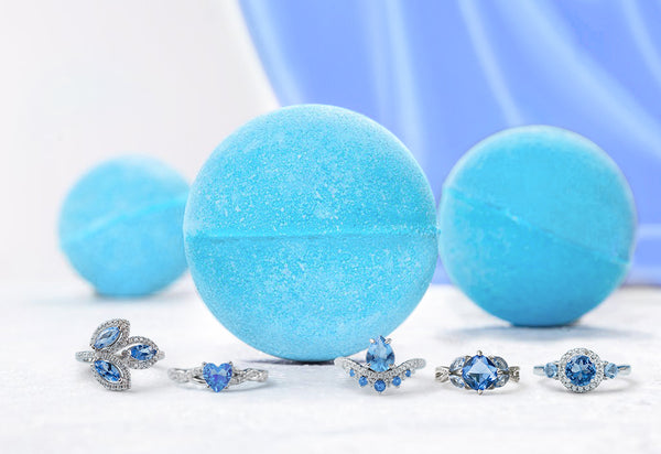 December Birthstone - Blue Topaz Bath Bomb
