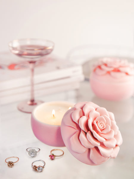 Sugar Blossom Candle - Floral Ring Collection