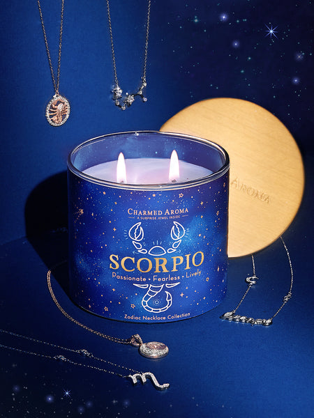 Scorpio Candle - Zodiac Necklace Collection