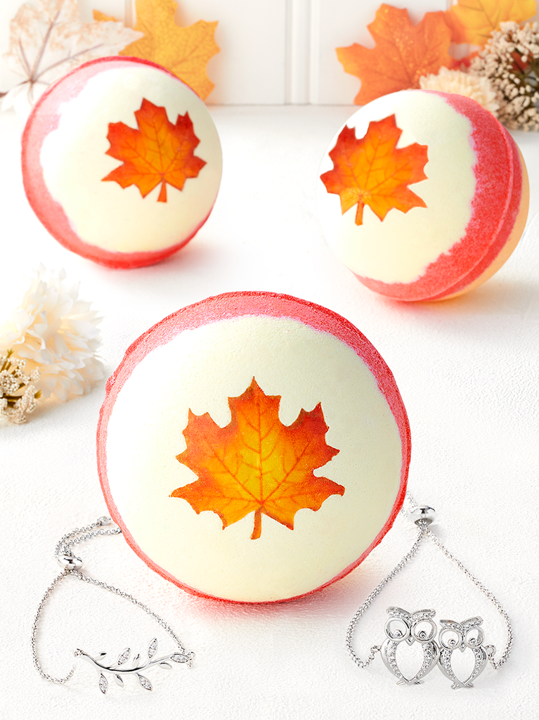 Autumn Leaves Bath Bomb - Nature Bracelet Collection