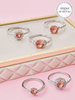 Ornament Candle - Blush Rose Ring Collection Made with Crystals from Swarovski®