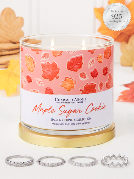 Maple Sugar Cookie Candle - 925 Sterling Silver Stackable Ring Collection