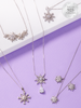Snowy Nights Candle - 925 Sterling Silver Snowflake Necklace Collection