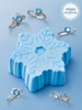 Snowflake Bath Bomb - Icy Blue Ring Collection Made with Crystals From Swarovski®