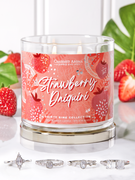 Strawberry Daiquiri Candle - Dainty Ring Collection