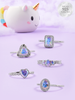 Unicorn Candle - 925 Sterling Silver Aurora Ring Collection