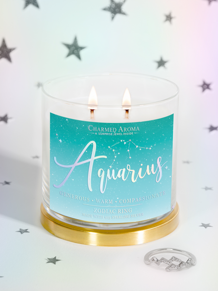 Aquarius Candle - Zodiac Ring Collection