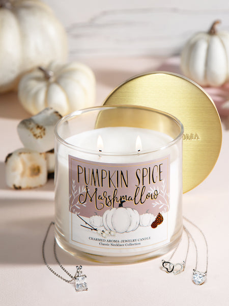 Pumpkin Spice Marshmallow Candle - Classic Necklace Collection
