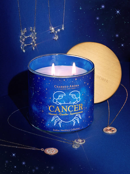 Cancer Candle - Zodiac Necklace Collection