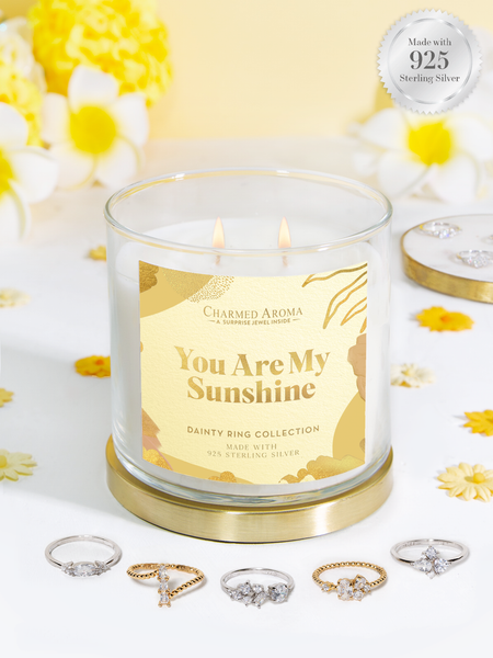 You Are My Sunshine Candle - Dainty Ring Collection