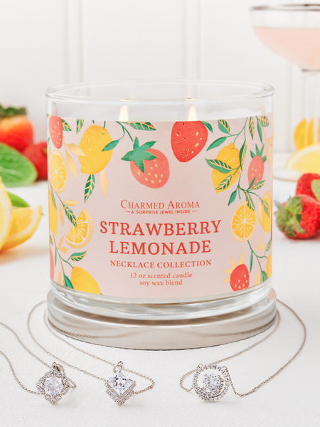 Strawberry Lemonade Candle - Necklace Collection