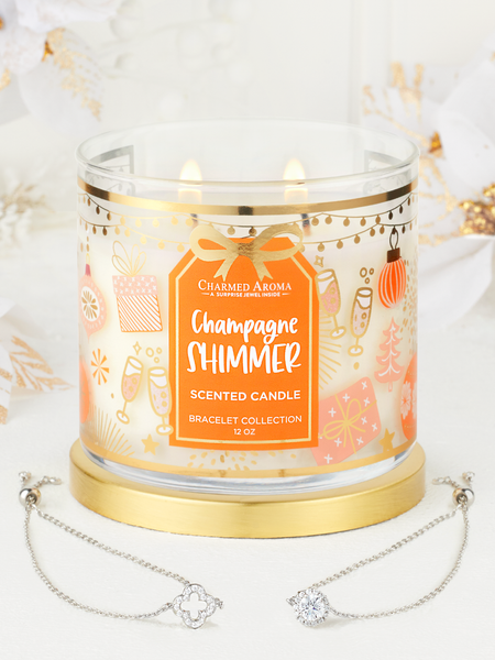 Champagne Shimmer Candle - Bracelet Collection