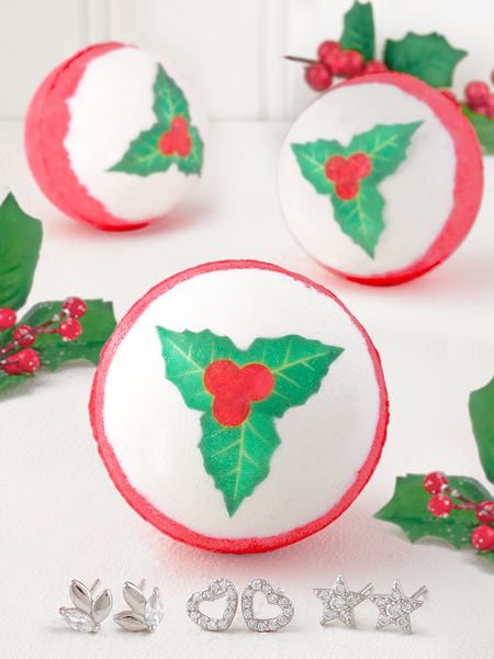 Mistletoe Bath Bomb - Earring Collection