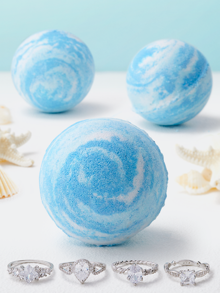 Ocean Wave Bath Bomb - Ring Collection