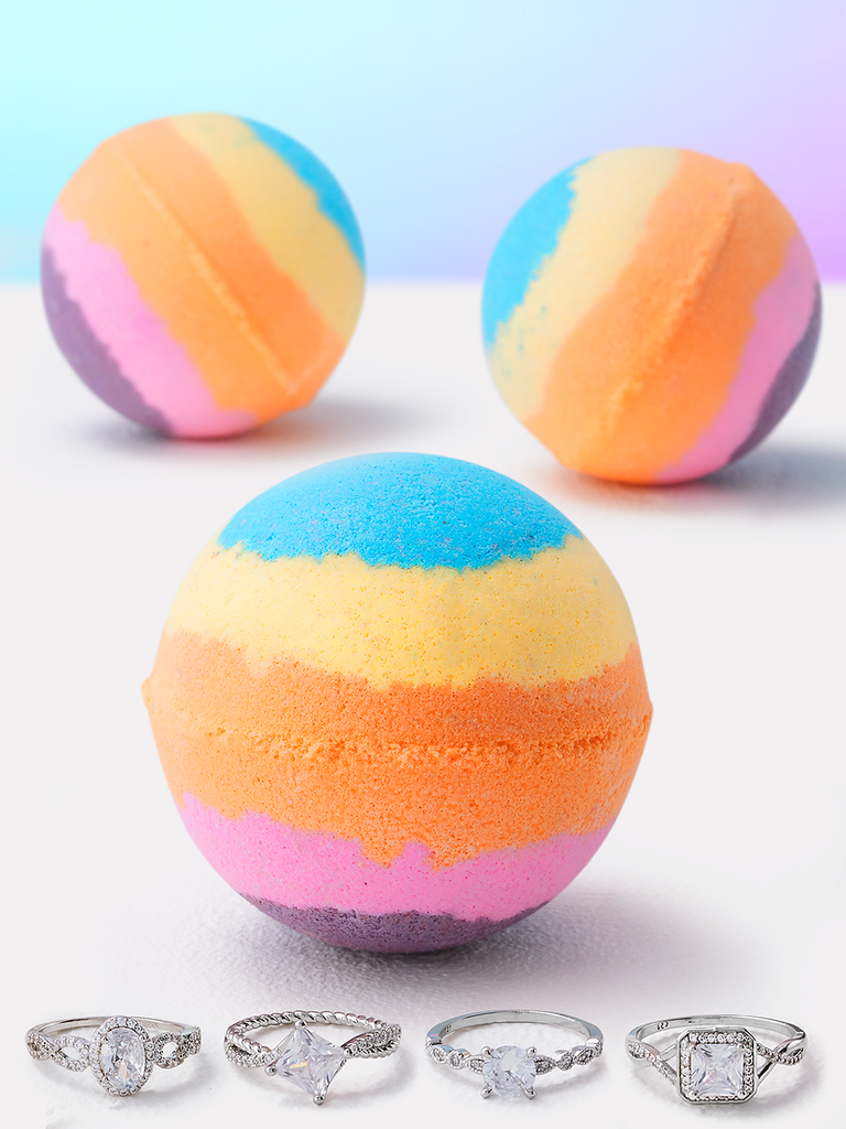 Rainbow Glow Bath Bomb - Ring Collection