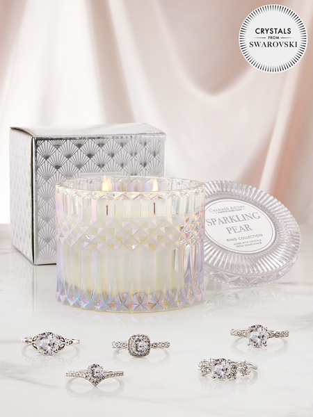 Sparkling Pear Candle - Ring Collection Made With Crystals From Swarovski®