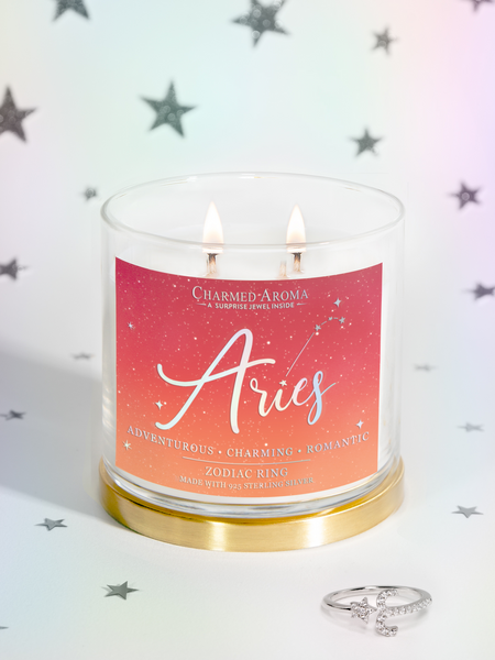 Aries Candle - Zodiac Ring Collection