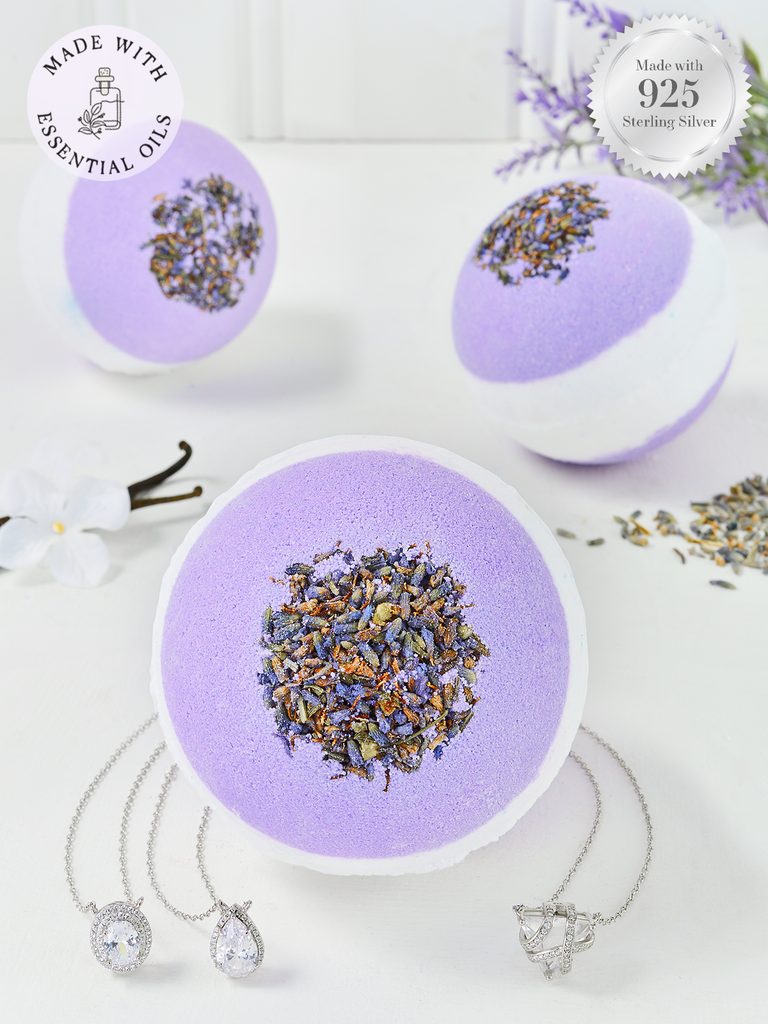 Lavender Bath Bomb - Classic Necklace Collection