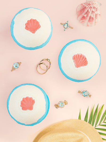 Beach Bath Bomb - Sea & Sand Inspired Ring Collection