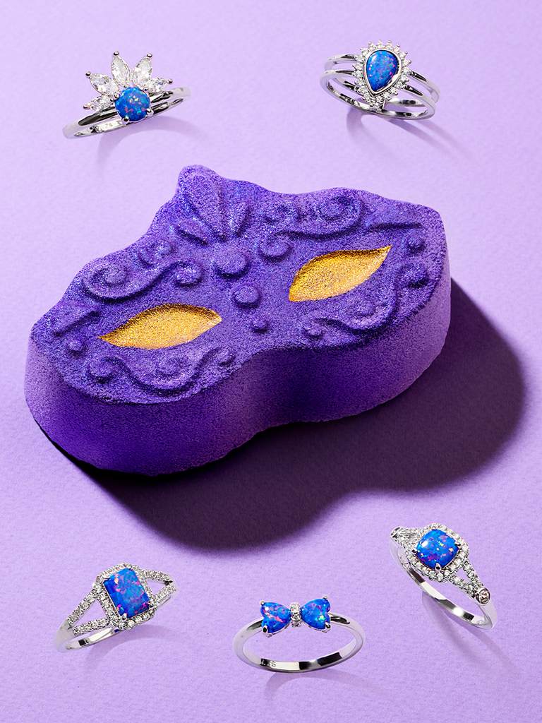 Masquerade Bath Bomb - Ultraviolet Opal Ring Collection
