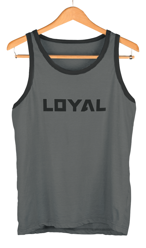 Black Loyal Logo Tank the loyal brand theloyalbrand