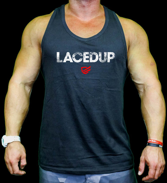 Lacedup Tanks Mens - Black, Tri Grey