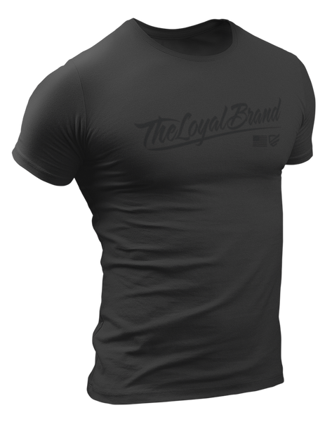 Loyal Script T-Shirt - Charcoal