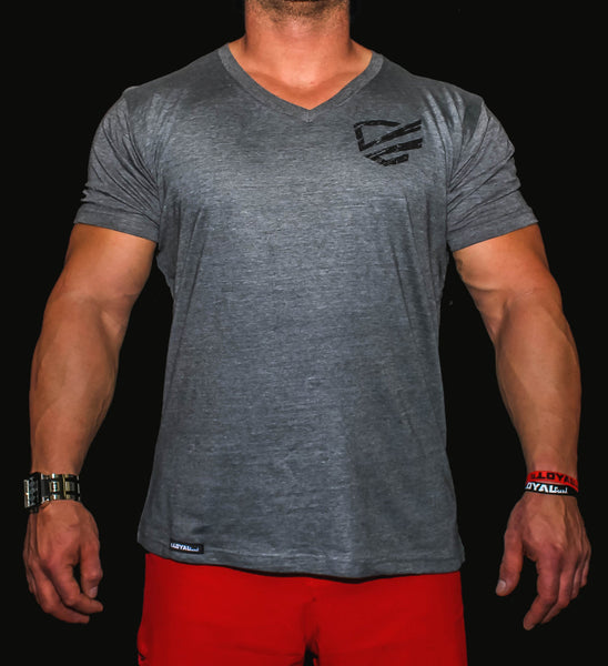 Premium V-Neck Heather Charcoal by Loyal