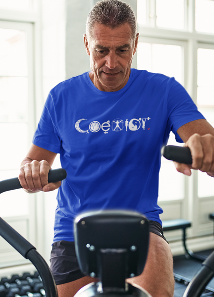 Coexist Fitness T-Shirt - Royal