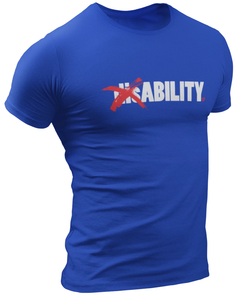 dis❌ABILITY T-Shirt - Royal Blue