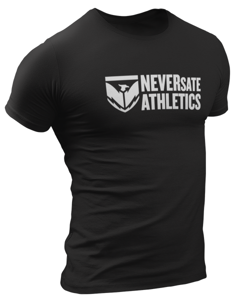 NEVERsate Shield Logo T-Shirt - Black
