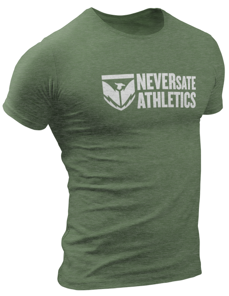 neversate-shield-logo-tee-military-green