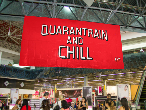 Quarantrain and Chill Banner