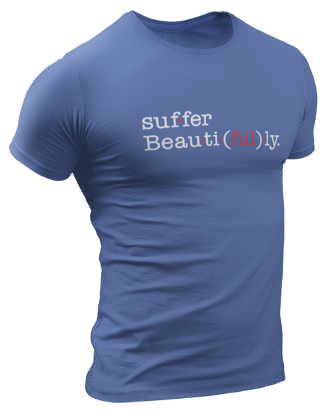 Limited NEVERsate Suffer Beautifully Indigo T-Shirt